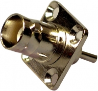 F283 BNC Chassis Socket With Four Hole Fixing
